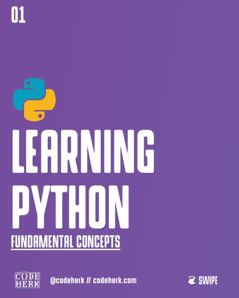 Learning Python: Fundamental Concepts